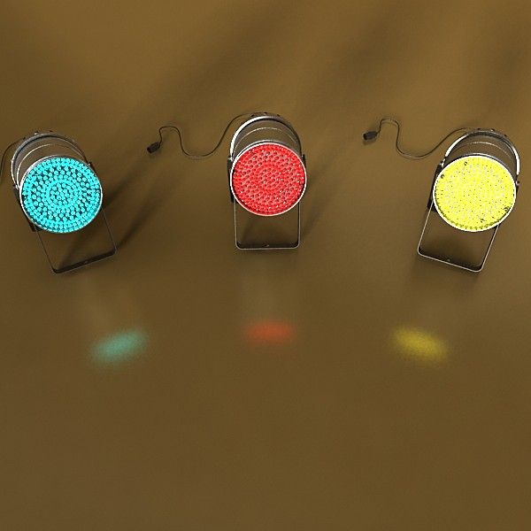 realistic stage lights collection 6 items 3d model max fbx obj 130832