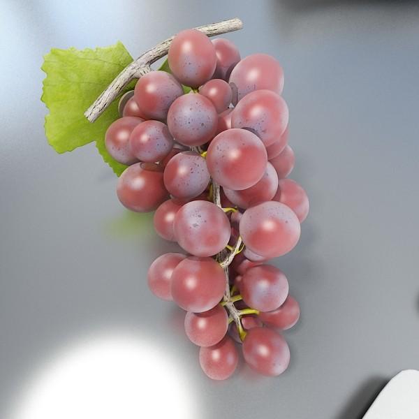 red grapes high detail 3d model 3ds max fbx obj 133025