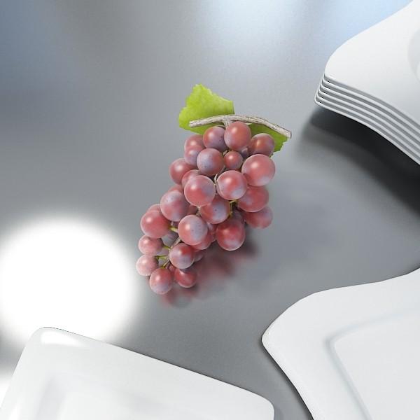 red grapes high detail 3d model 3ds max fbx obj 133027