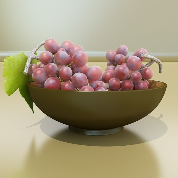 red grapes in bowl 12 3d model 3ds max fbx obj 133068