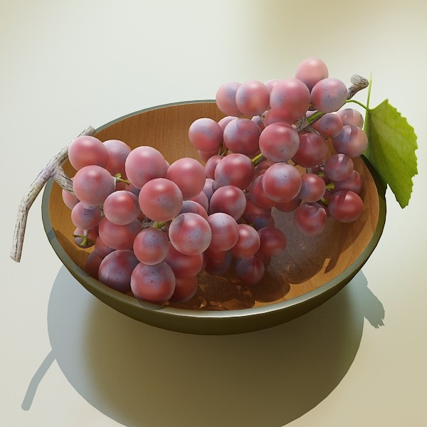red grapes in bowl 12 3d model 3ds max fbx obj 133069