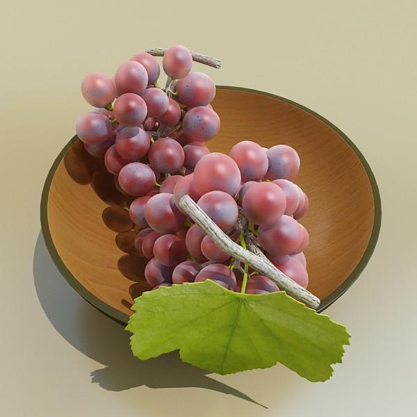 red grapes in bowl 12 3d model 3ds max fbx obj 133070