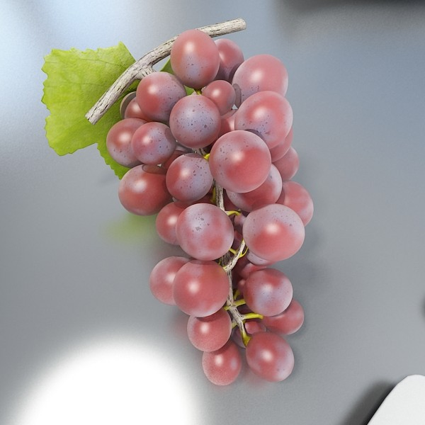red grapes in bowl 12 3d model 3ds max fbx obj 133071