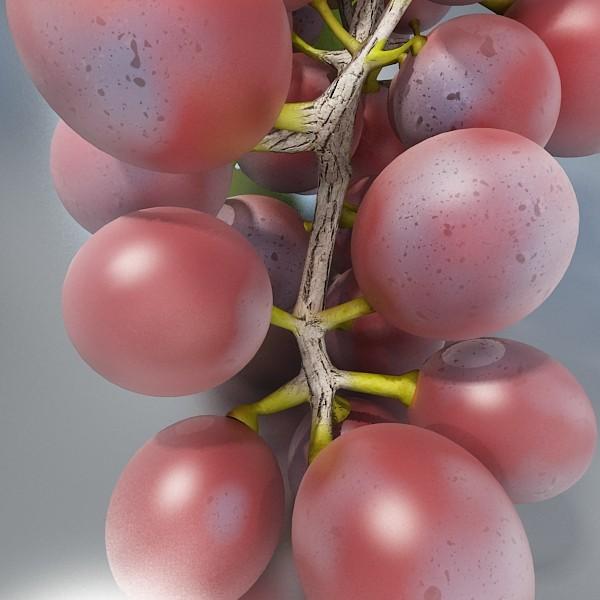 red grapes in bowl 12 3d model 3ds max fbx obj 133072