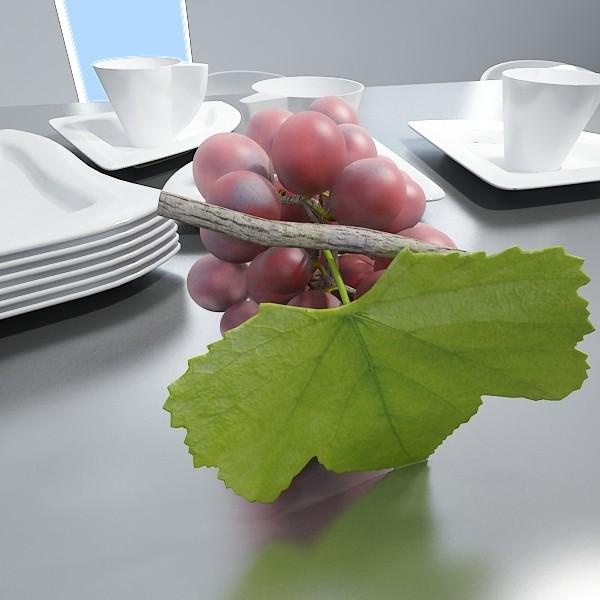 red grapes in bowl 12 3d model 3ds max fbx obj 133074