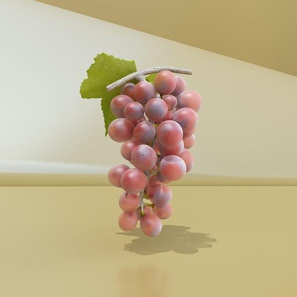 red grapes in bowl 12 3d model 3ds max fbx obj 133075