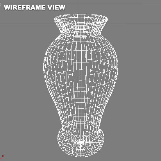 red vase 3d model 3ds max blend br4 obp obj 119332