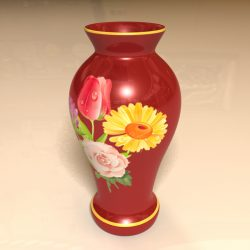 Red Vase ( 311.88KB jpg by Nemo1897 )