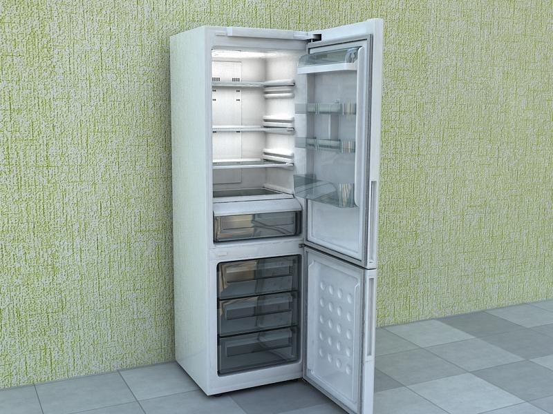 refrigerator samsung 3d model max 156223