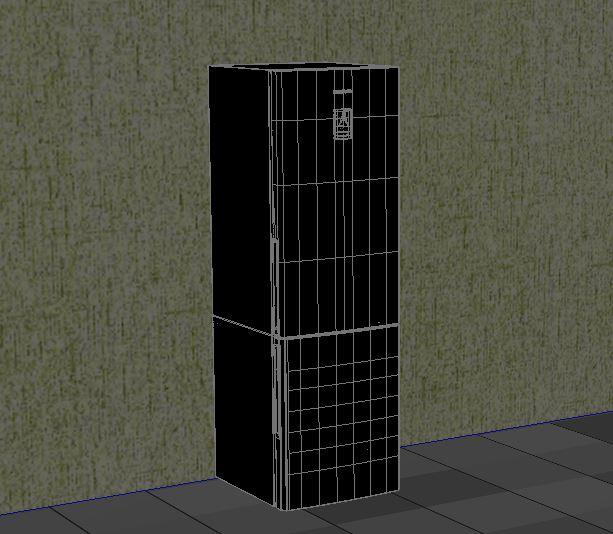 refrigerator samsung 3d model max 156226