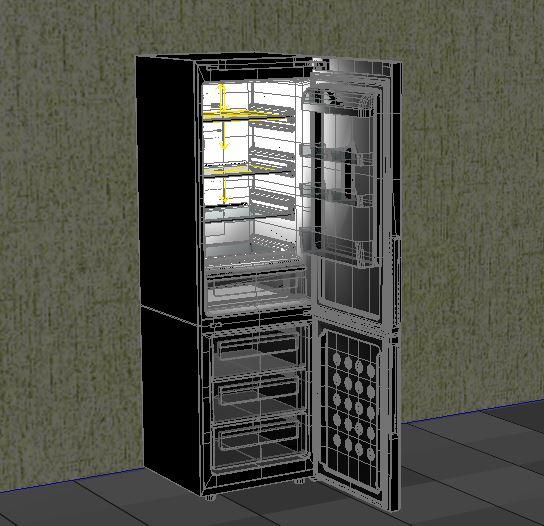 refrigerator samsung 3d model max 156227
