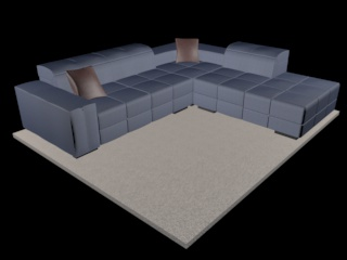 sofa natuzzi surround v018 3d model 3ds dxf c4d png obj 148124