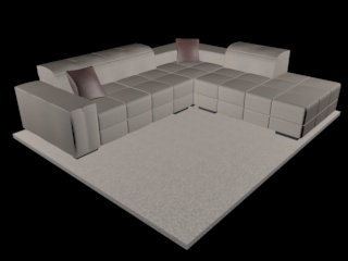 sofa natuzzi surround v018 3d model 3ds dxf c4d png obj 148125