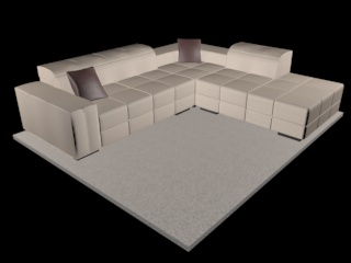 sofa natuzzi surround v018 3d model 3ds dxf c4d png obj 148126