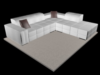 sofa natuzzi surround v018 3d model 3ds dxf c4d png obj 148127