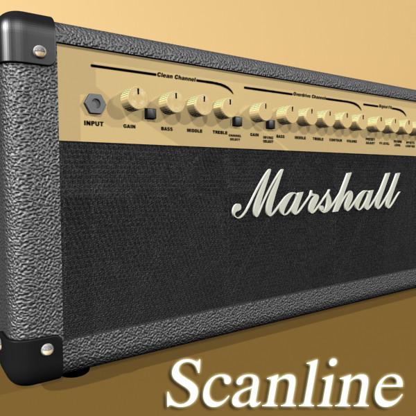 stage amplifier high detail 3d model max fbx obj 131093