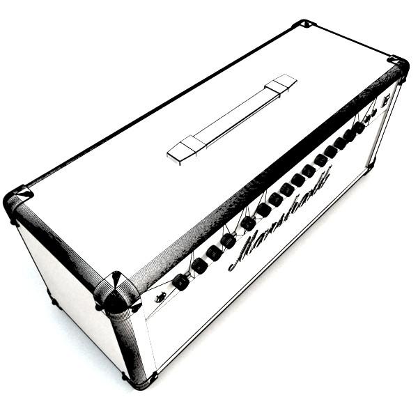 stage amplifier high detail 3d model max fbx obj 131095