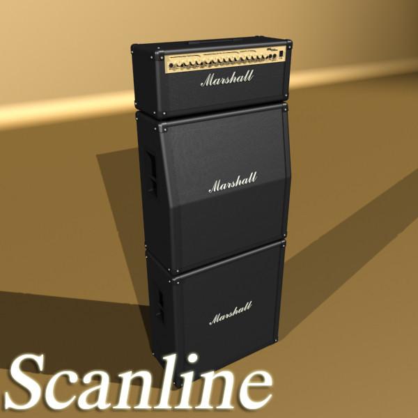 stage amplifier high detail 3d model max fbx obj 131099