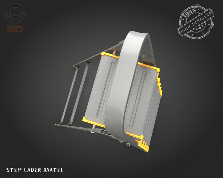 step ladder metal 3d model 3ds max fbx obj 137079