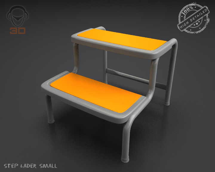 step lader small 3d model 3ds max fbx obj 137600