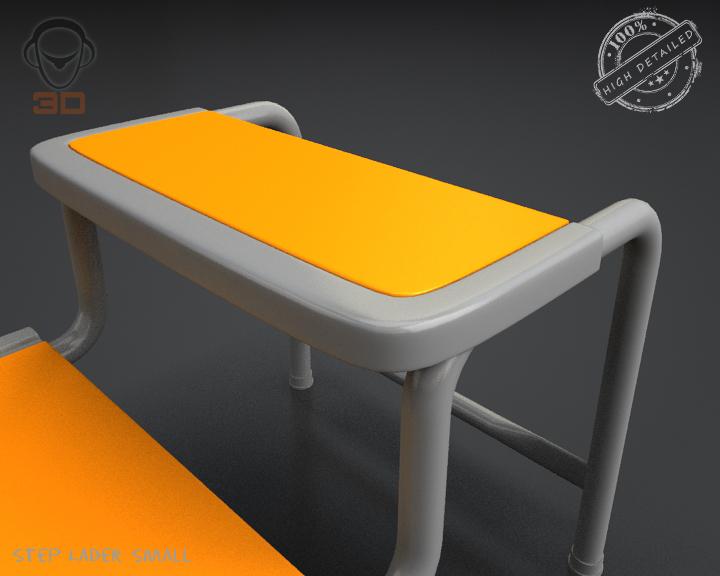 step lader small 3d model 3ds max fbx obj 137601