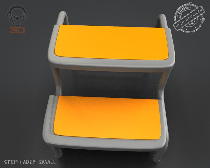 step lader small 3d model 3ds max fbx obj 137602