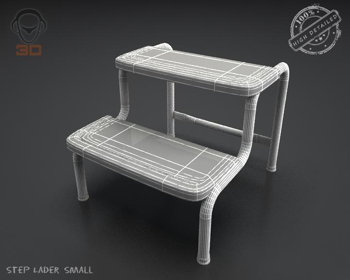 step lader small 3d model 3ds max fbx obj 137606