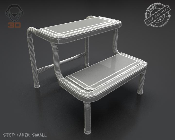 step lader small 3d model 3ds max fbx obj 137607