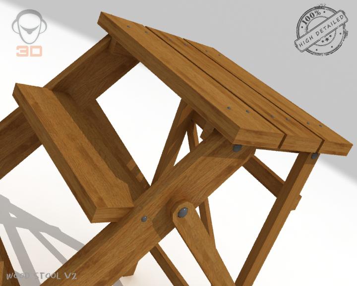 step lader wood v2 3d model 3ds max fbx obj 137595