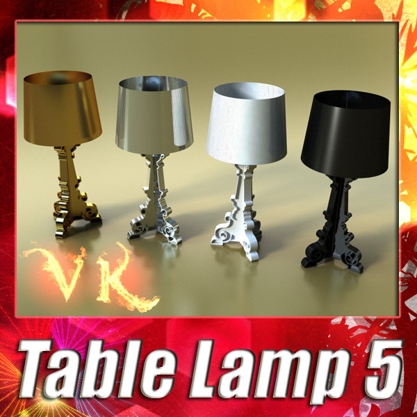 table lamp 05 bourgie 3d model 3ds max fbx obj 135424