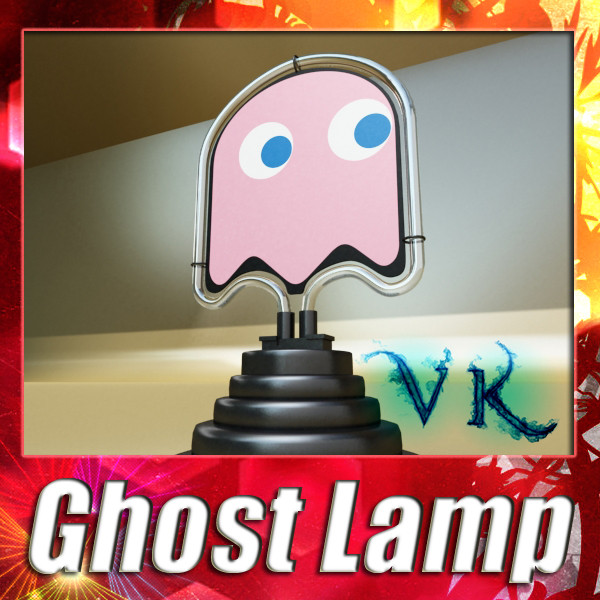 table lamp pac man ghost 3d model 3ds max fbx 134888