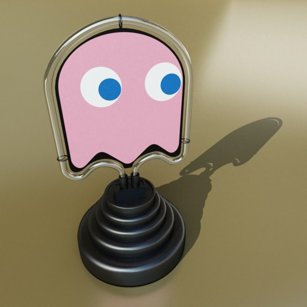 galda lampa pac man spoku 3d modelis 3ds max fbx 134889