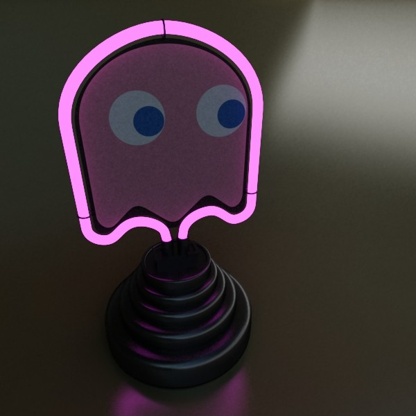 galda lampa pac man spoku 3d modelis 3ds max fbx 134890
