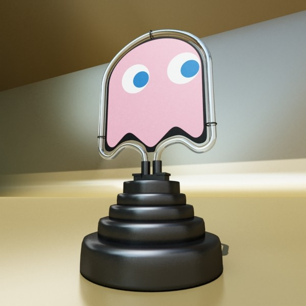 galda lampa pac man spoku 3d modelis 3ds max fbx 134892