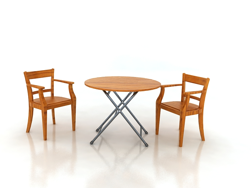 table with chairs 3d model max 156325