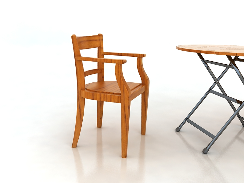 table with chairs 3d model max 156327