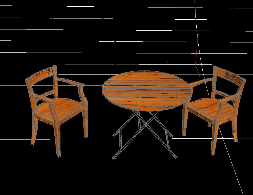 Table with Chairs ( 76.1KB jpg by S.E )