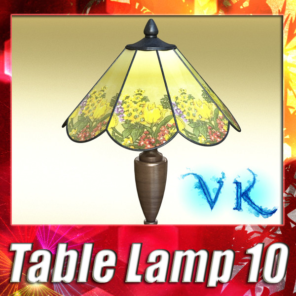 victorian table lamp 10 3d model 3ds max fbx obj 135464