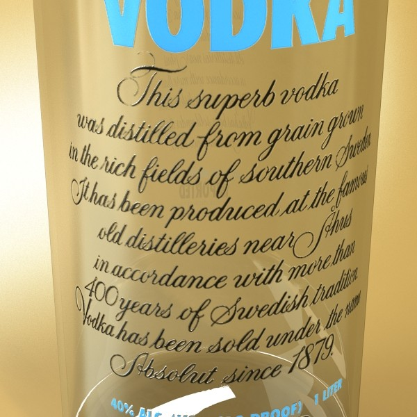 vodka absolut collection 3d model 3ds max fbx obj 135981