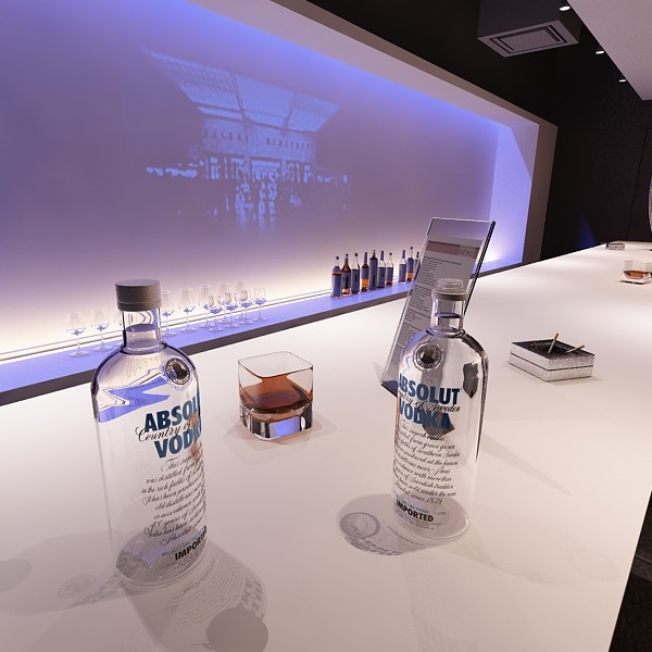 vodka absolut collection 3d model 3ds max fbx obj 135984