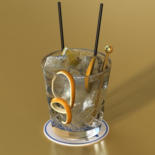 vodka cocktail glass 3d model 3ds max fbx obj 136020