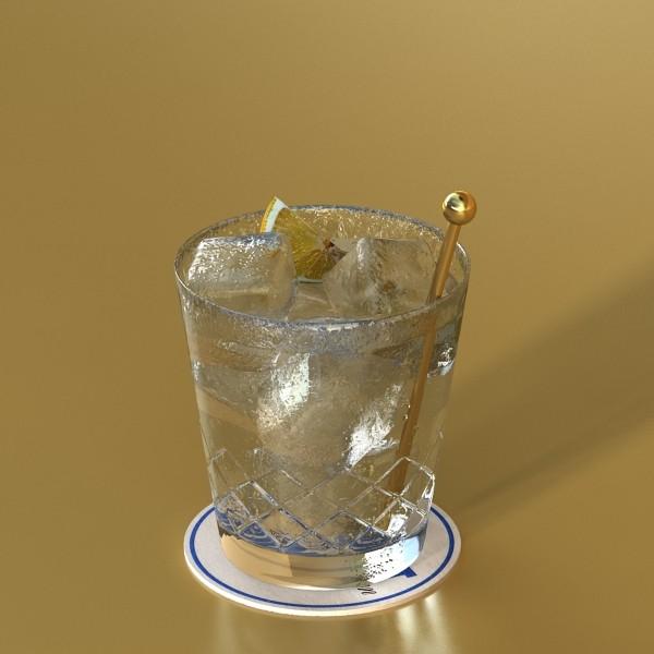 vodka cocktail glass 3d model 3ds max fbx obj 136021