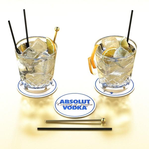 vodka cocktail glass 3d model 3ds max fbx obj 136024