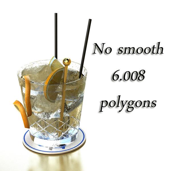 vodka cocktail glass 3d model 3ds max fbx obj 136026