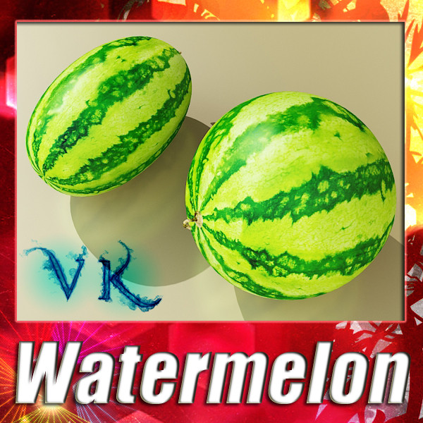 watermelon high res texture – #2 3d model 3ds max fbx obj 133159