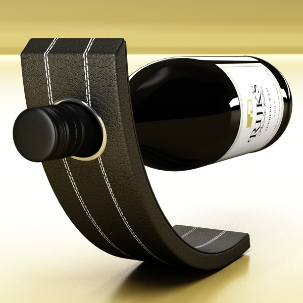 Wine Rack 4 and Red Wine Bottle