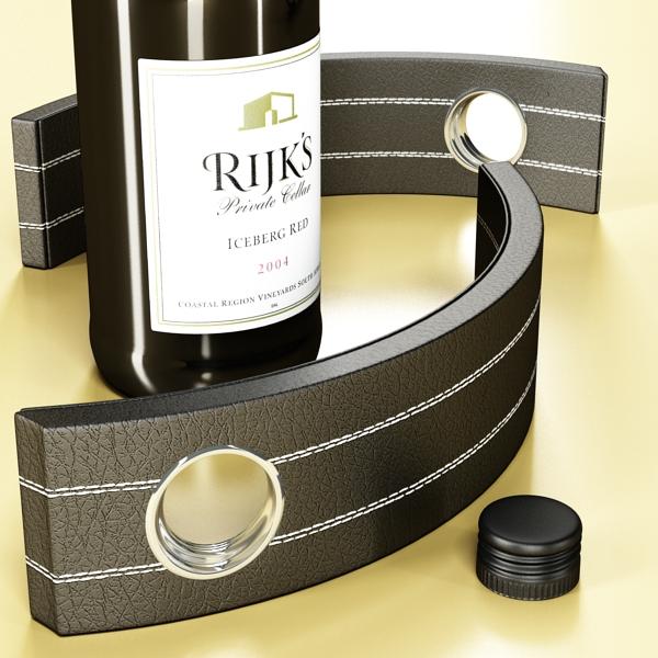дарс өлгүүр 4 болон улаан дарсны лонх 3d загвар 3ds хамгийн их fbx obj 146019