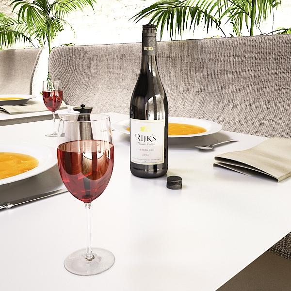 дарс өлгүүр 4 болон улаан дарсны лонх 3d загвар 3ds хамгийн их fbx obj 146030