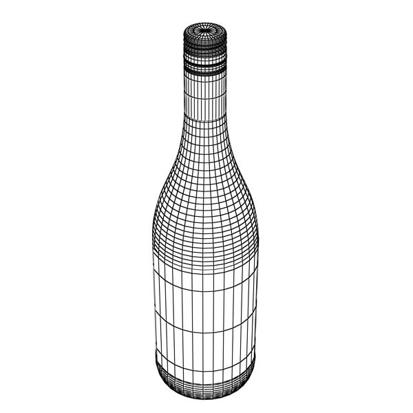 дарс өлгүүр 4 болон улаан дарсны лонх 3d загвар 3ds хамгийн их fbx obj 146032