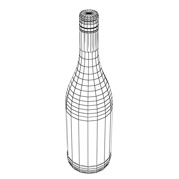 дарс өлгүүр 4 болон улаан дарсны лонх 3d загвар 3ds хамгийн их fbx obj 146033